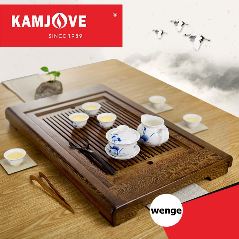 free shipping KAMJOVE wenge solid wood tea tray Wood carving make tea machine intelligent tea art stove whole tea set