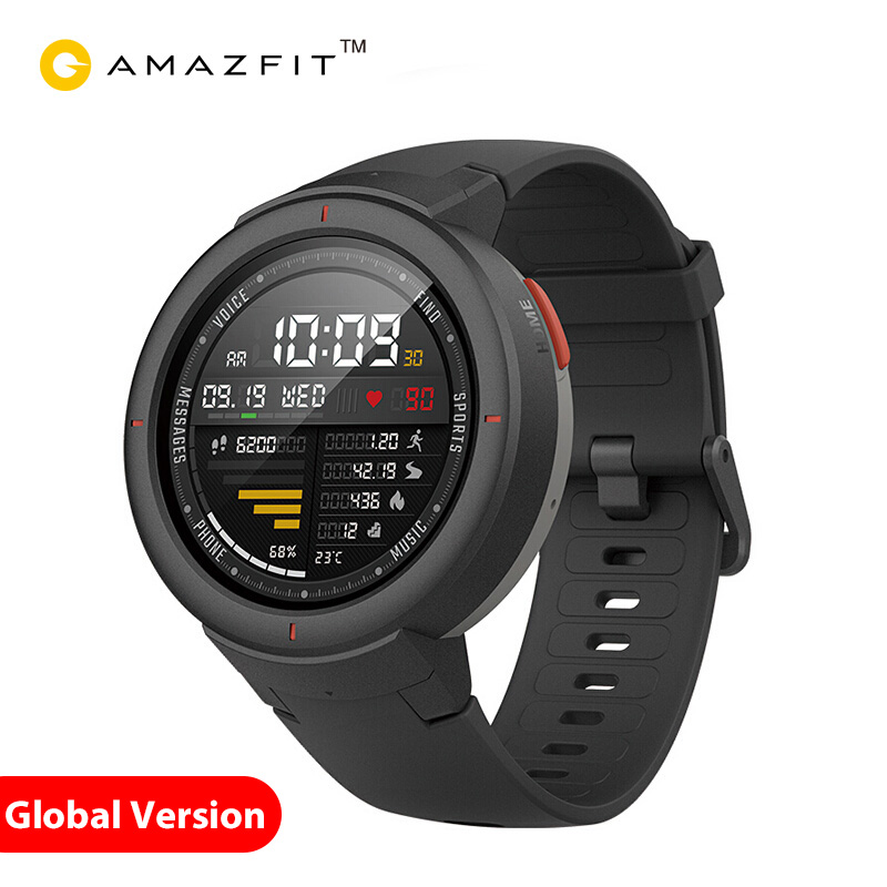 Xiaomi Amazfit Verge English Version Smartwatch 1 3 inch AMOLED Screen Dial Answer Calls Upgraded HR