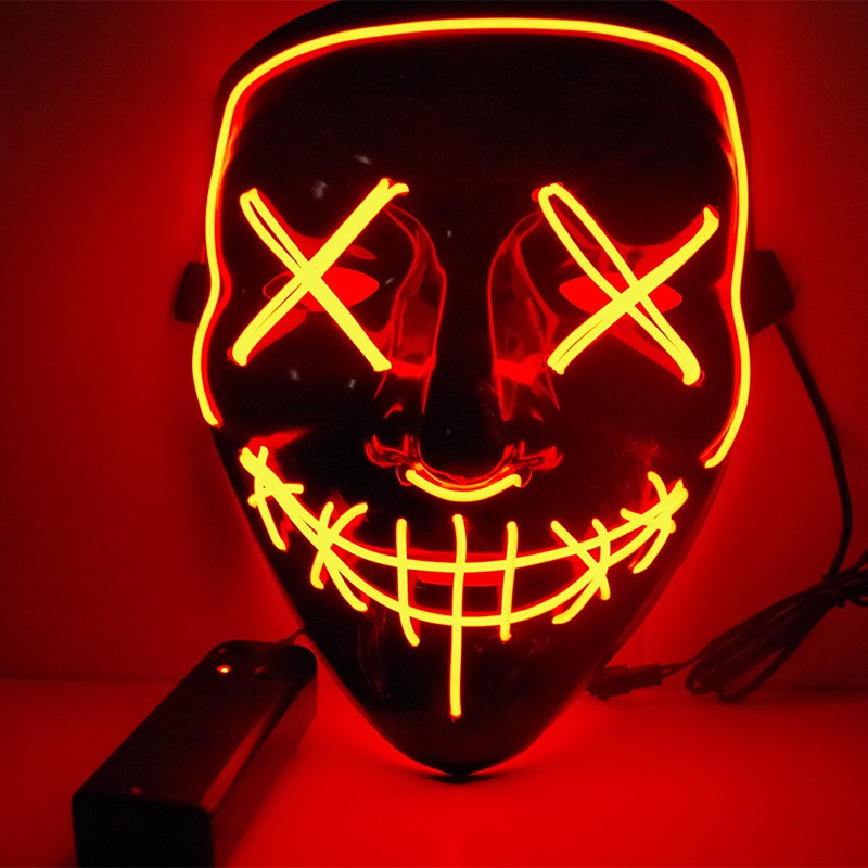 Halloween LED Light Mask Halloween Costume Supplies for Festival Masquerade Cosplay Party Performance Glow In The Dark