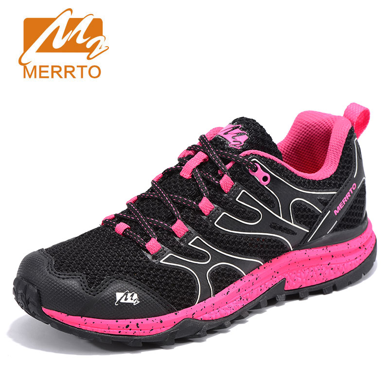MERRTO Women Portable Lace Up Running Shoes Anti Slip Fabric Breathable Simple Outdoor Sports Sneakers Lightweight Jogging Shoes