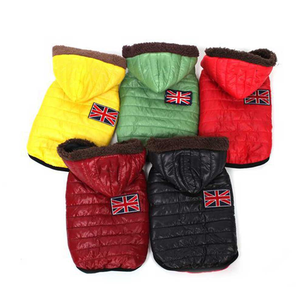 Dog Jacket Dog Coats Clothes Pet Puppy Cat Autumn Winter Warm Thick Clothing E2S