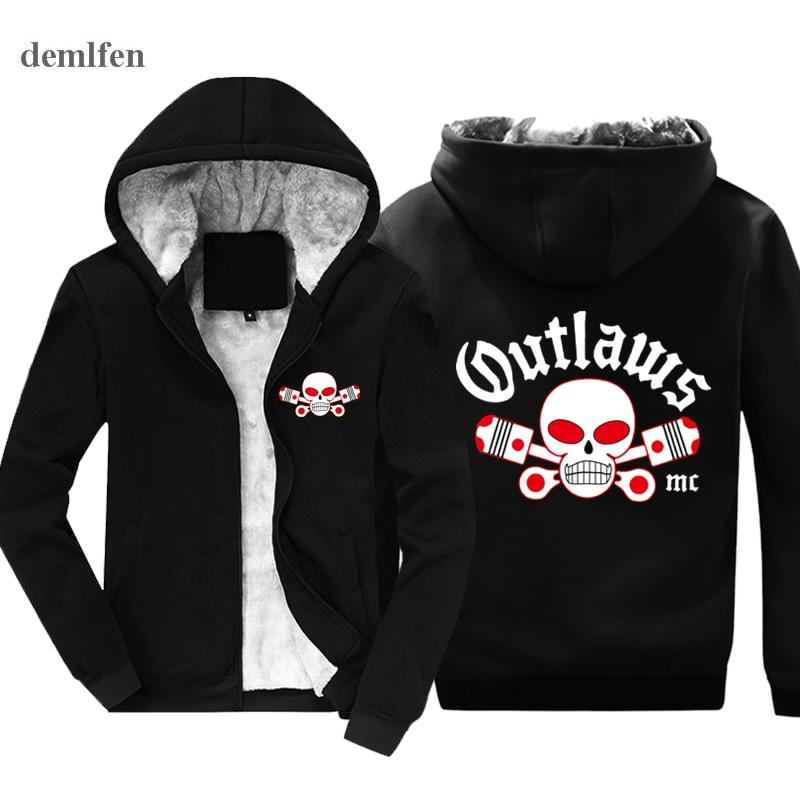 Mode Outlaws MC Männer hoodie Unterstützung Outlaws Baumwolle ...