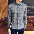 Plus Size 4XL 2017 Men's Plaid Cotton Dress Shirts Male Long Sleeve Slim Fit Business Casual Shirt Camisa For Man High Quality