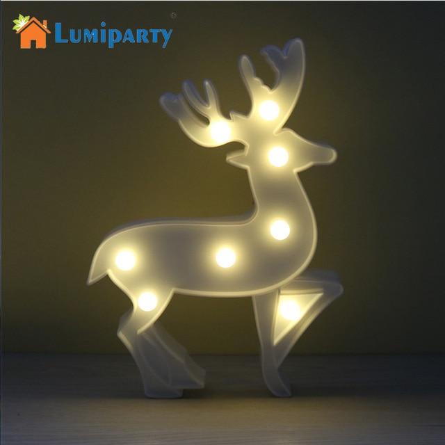 LumiParty LED Rendier Nachtlampje Draadloze Tafellamp Kerst Marquee ...