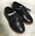 2016 nova primavera verão outono crianças PU sapatos de couro preto Criança sapatos Menina Princesa sapatos de bebê crianças sapatos oxford marrom