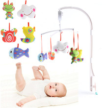 ABS & plush 1month to 3years Infant Babies Bed Crib Music Bells Box Hanging Toys Bedding Sets