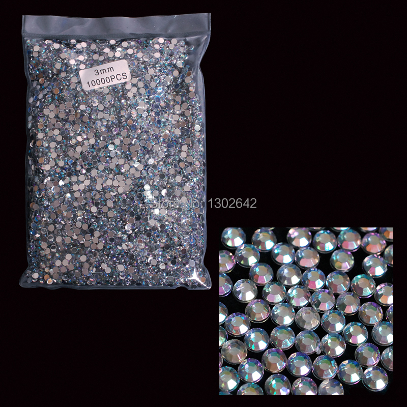 3AB  10000pcs Free Shipping 3MM AB Acrylic Nail Tool Round Rhinestones Stones Nail Art DIY Nail Tips Crystal Crafts new high quality 10000pcs 1 5mm clear round acrylic rhinestones nail art decoration glitter for diy nail tips free shipping