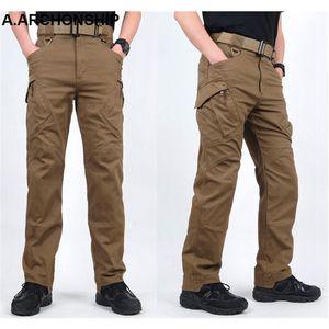 Image 4 - Мужские тактические брюки карго IX9, повседневные хлопковые брюки карго в стиле милитари, SWAT, 2017