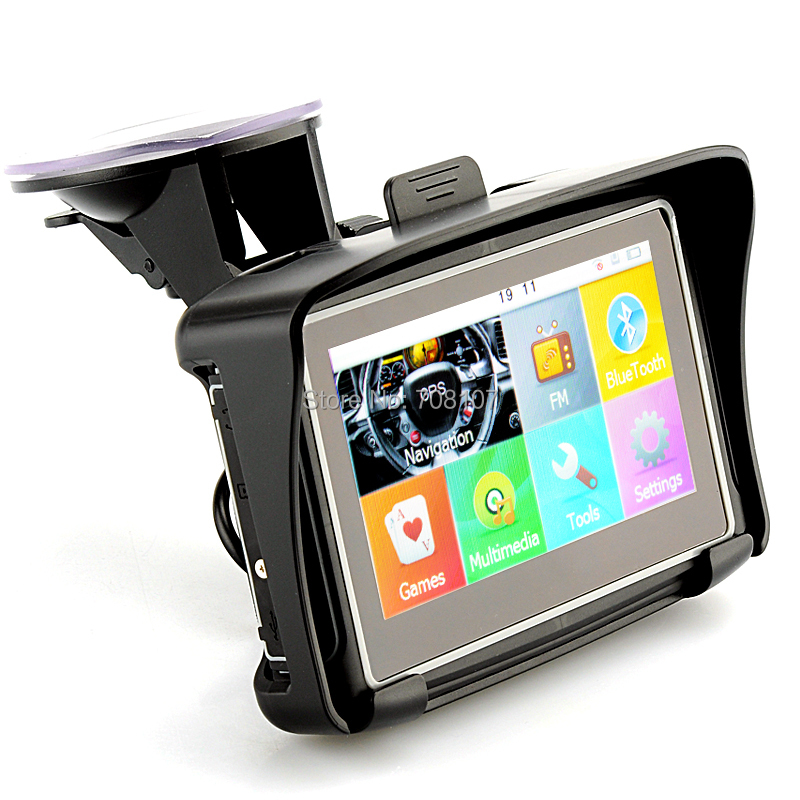 Inch Waterproof Motorcycle Gps Navigation System Build In G Flash Memory Bluetooth Fm Transmitter  New