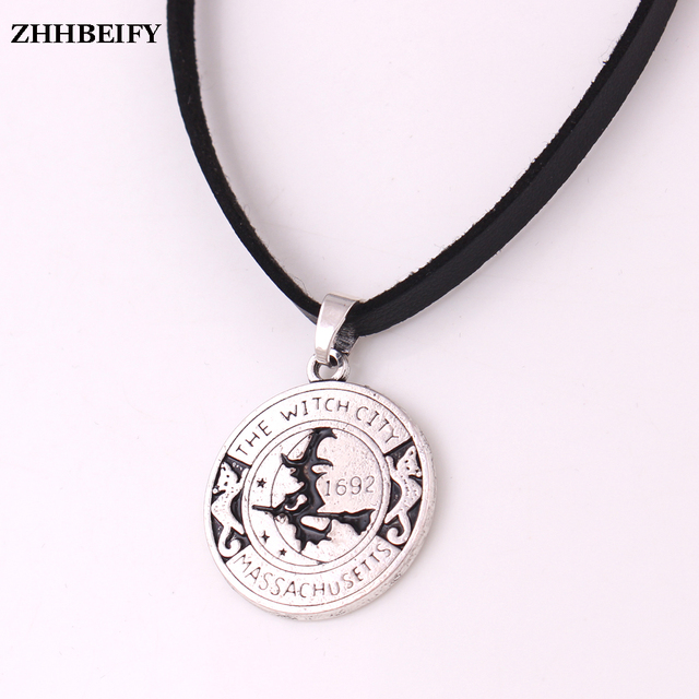 Drop shipping fashion witch pendant magick amulet salem witch 1692 drop shipping fashion witch pendant magick amulet salem witch 1692 moon cat broom with leather chain aloadofball Gallery