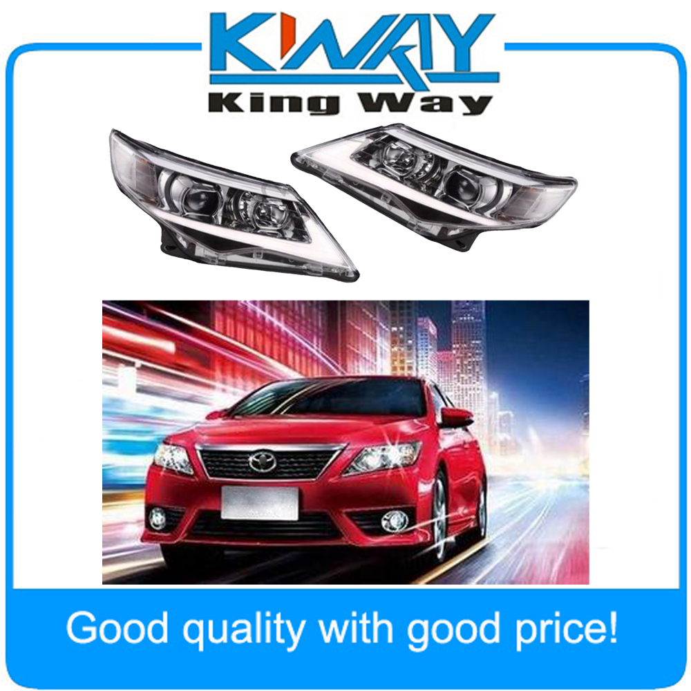 Headlight USA LED Halo Projector Headlights For 2012 2013 2014 Toyota Camry brand new original replacement hid bi xenon projector headlights for toyota camry 2012 2014