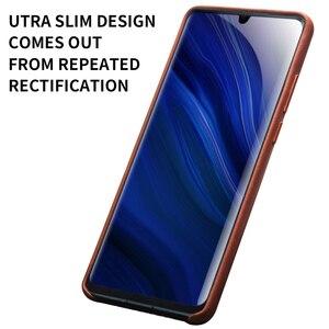 Image 5 - QIALINO אופנה אמיתי עור Ultra Slim טלפון מקרה עבור Huawei P30 פרו 6.47 אינץ יוקרה בעבודת יד חזרה כיסוי עבור Huawei p30