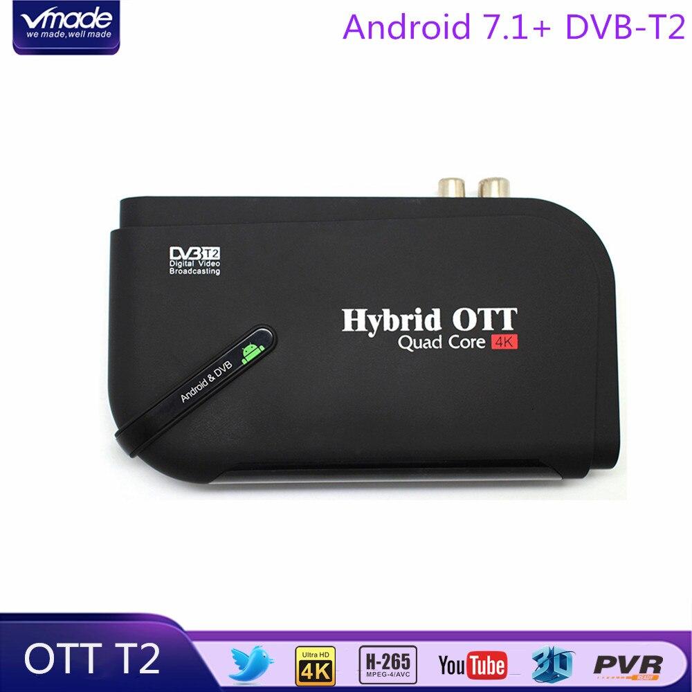 DVB-T2 Android 7.1 1+8G Smart IPTV TV Box Amlogic S905D Quad Core Combo HD Digital Terrestrial Receiver Media Player Set top boxDVB-T2 Android 7.1 1+8G Smart IPTV TV Box Amlogic S905D Quad Core Combo HD Digital Terrestrial Receiver Media Player Set top box