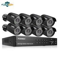 8CH 1080 P AHD DVR + 8 шт. наружная 3000TVL 1080 P 2.0MP камера для дома/особняк/магазин система видеонаблюдения Комплект камер видеонаблюдения