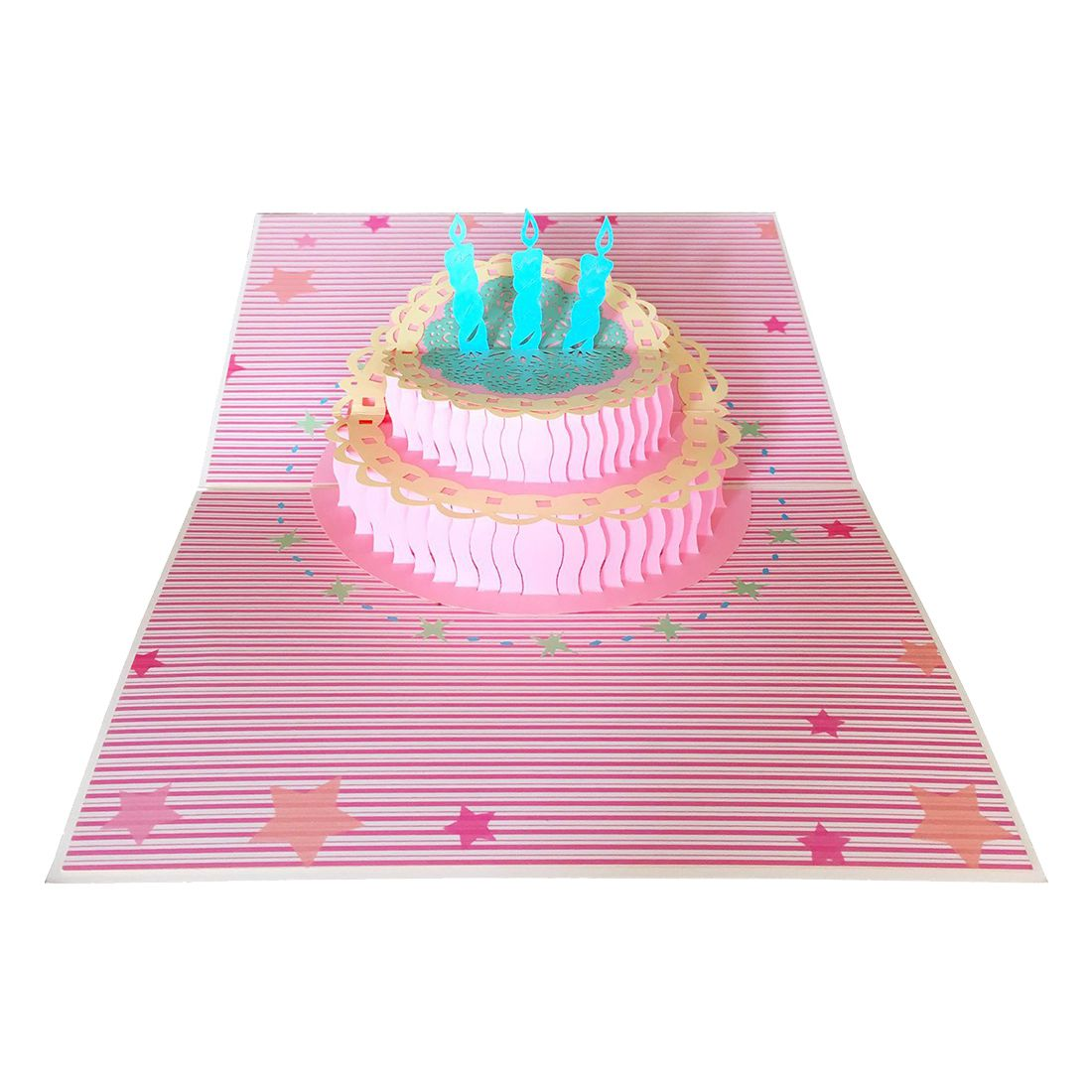 Practical Boutique Birthday Card 3d Pop Up Cake Birthday Greeting