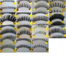 10 Pairs Natural False Eyelashes Invisible Clear Band Long Black Eye Lashes Make Up Tool 022H 8TK2