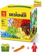 Wange 625 Pcs Building Blocks City DIY Creative Bricks Toys For Child Educational Building Block Bricks