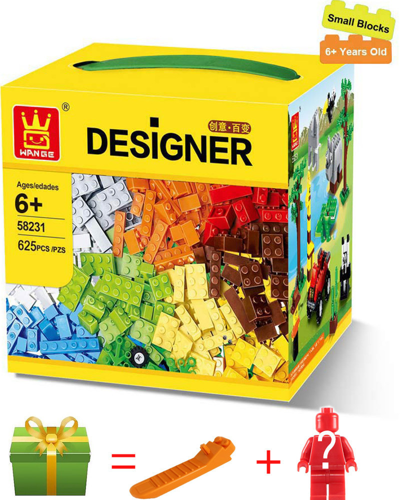 Wange 625Pcs small bulk DIY Creative city set Bricks Educational Toys For Children gift Building Blocks Compatible With legoed wange building blocks toys for children gifts architectures series 978pcs bricks diy educational no 8015