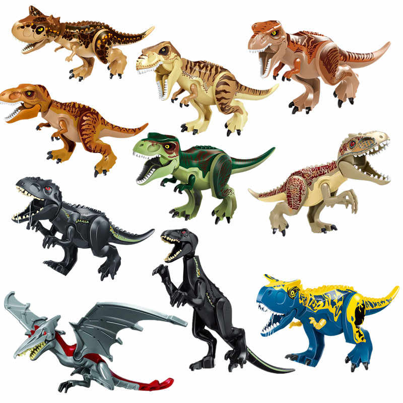Jurassic World 2 Dinosaur Tyrannosaurus Triceratops Pterosauria Indoraptor Building Blocks Bricks Learning For Children Gift Toy