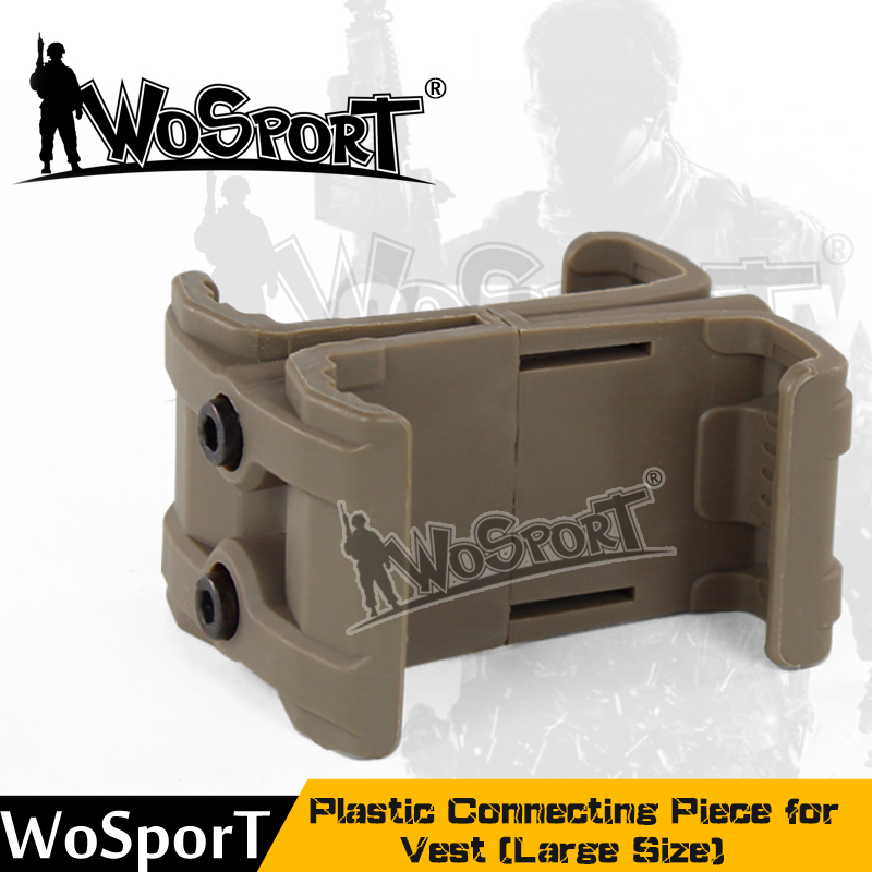 WoSporT Tactical Vest Accessory Plastic Connecting Piece For Vest Outdoor Large Size For Airsoft Paintball Hunting Army Military