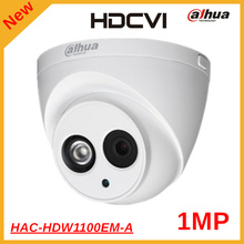 Latest Dahua Security Camera 1mp 720P IR 50M HDCVI Camera for Indoor Outdoor Use HAC-HDW1100EM-A DC12V IR 50m