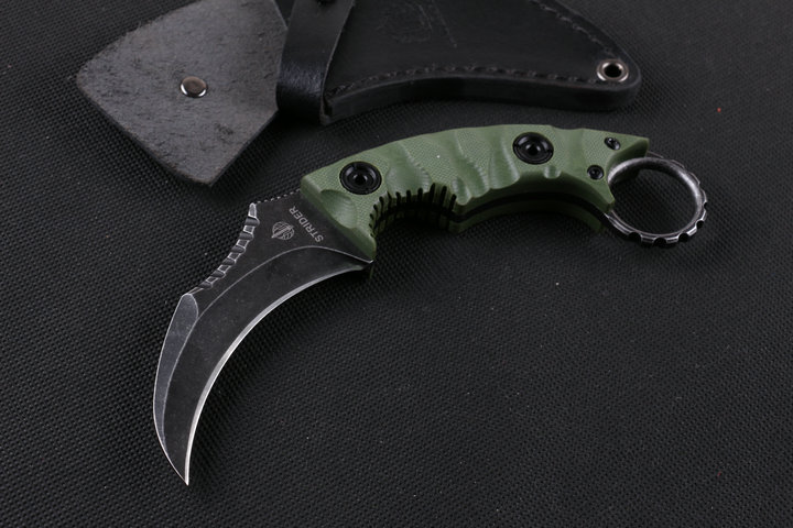 Strider Tactical Fixed Knives,D2 Blade G10 Handle Karambit Hunting Knife,Camping Survival Knife. lcm66 d2 steel karambit scorpion claw knife outdoor camping jungle survival battle fixed blade hunting knives self defense tool