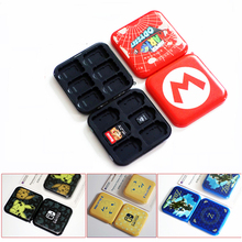ציפוי 12in1 עבור Nintendo מתג משחק כרטיס בעל מחסנית חריצים עבור מתג משחק כרטיס אחסון תיבת מקרה + 12 מיקרו SD חריץ