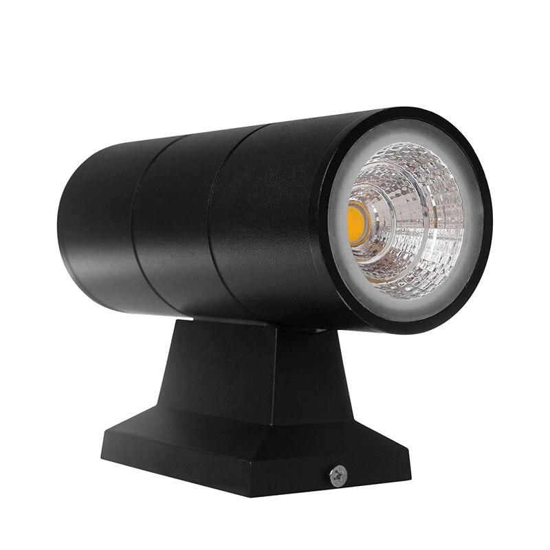 14W COB Double Head Venkovní LED nástěnná lampa / 2 * 7W Garden Courtyard Waterproofing Wall LIGHT 10PCS