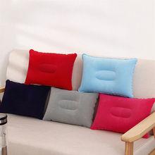 Portable Inflatable Outdoor Travel Pillow Air Pillow Beach Car Cushion Car Head Rest Hiking Pillow Gray цены онлайн