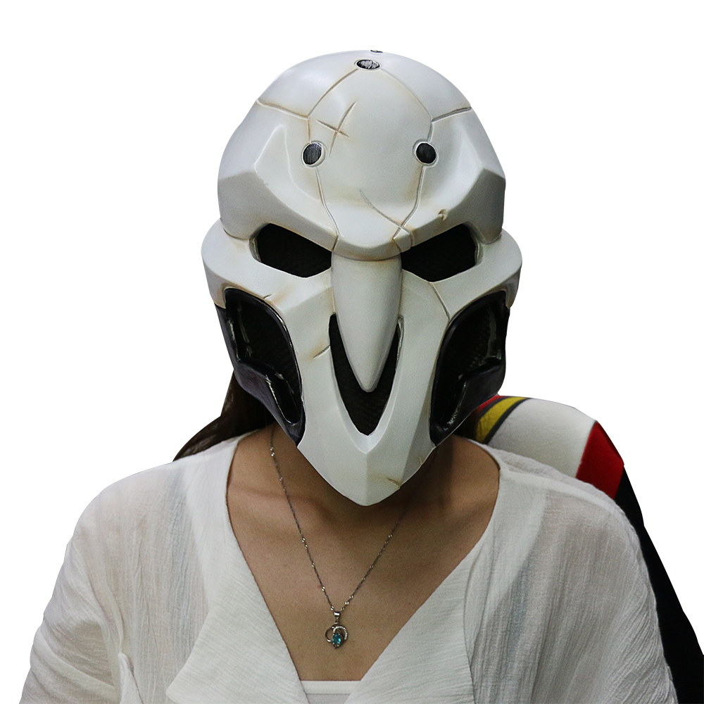 High Quality Over watch Game Mask PVC Cosplay Reaper Mask Helmet Halloween Reaper Party Mask (9)