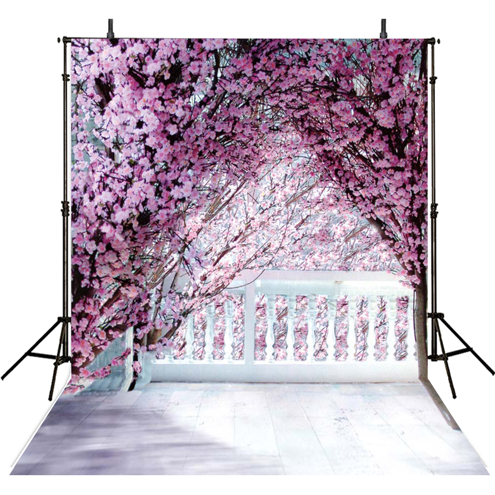 Pink Floral Photography Backdrops Party Vinyl Backdrop For Photography Wedding Background For Photo Studio Foto Achtergrond