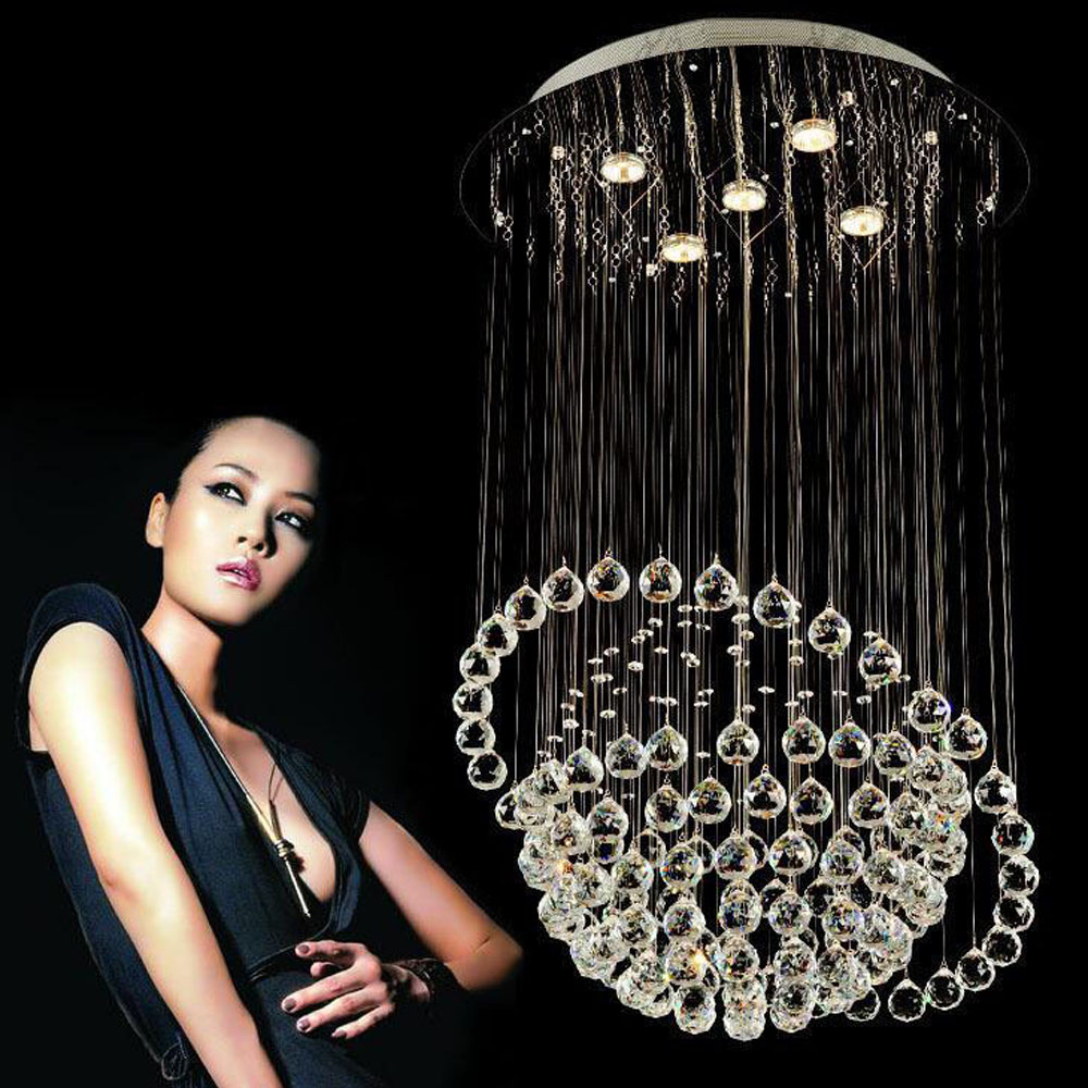 Globes bedroom living room lamp LED crystal ceiling lamp simple modern dining room restaurant chandeliers double staircase light все цены