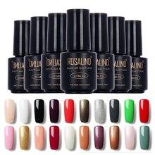 Высокое качество 1 шт замочить от длительного действия Гель-лак Полупостоянный чистый цвет лак для ногтей УФ Led 28 цветов дизайн ногтей гель для ногтей