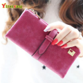 Wallet women luxury brand scrub leather credit card holder retro new clutch womens wallets and purses 2016 long free shipping