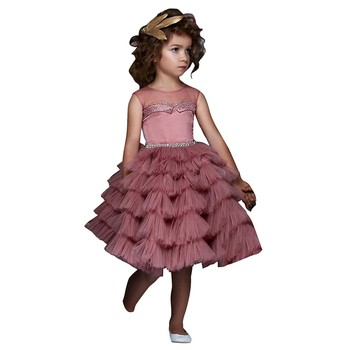 fc5d8e6d7af Нарядные платья для маленьких девочек Детские пышные платья для девочек  vestido de fiesta nina Короткие вечерние платье для девочек fille enfant