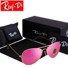 Pilot Sunglasses Men Women Glass Lenses Brand Design Aviador Sunglasses Rayed Male Female Mirror Sunglasses Frame Driving Shades