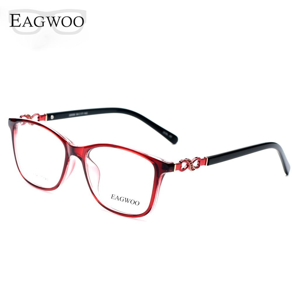 Asetaatti TR90 naisten naisten silmälasit, koko kehys kristalli, - Vaatetustarvikkeet - Valokuva 4