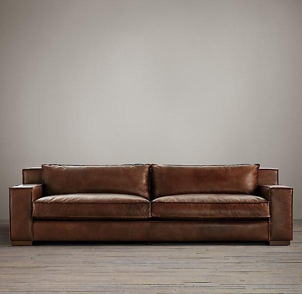 American Country Retro Leather Art Sofa
