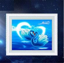 """5D quente Cheia de diamantes pintura ponto cruz """"Sonho Swan"""" diamant kit agulha de bordado patch de strass mosaico Decoração Da Sua Casa"""