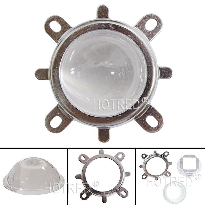 купить 44mm LED Lens 60-80Degree led Glass Lens + Reflector Collimator + Fixed bracket hoder Set for High power for 30W 50W 70W 100W недорого