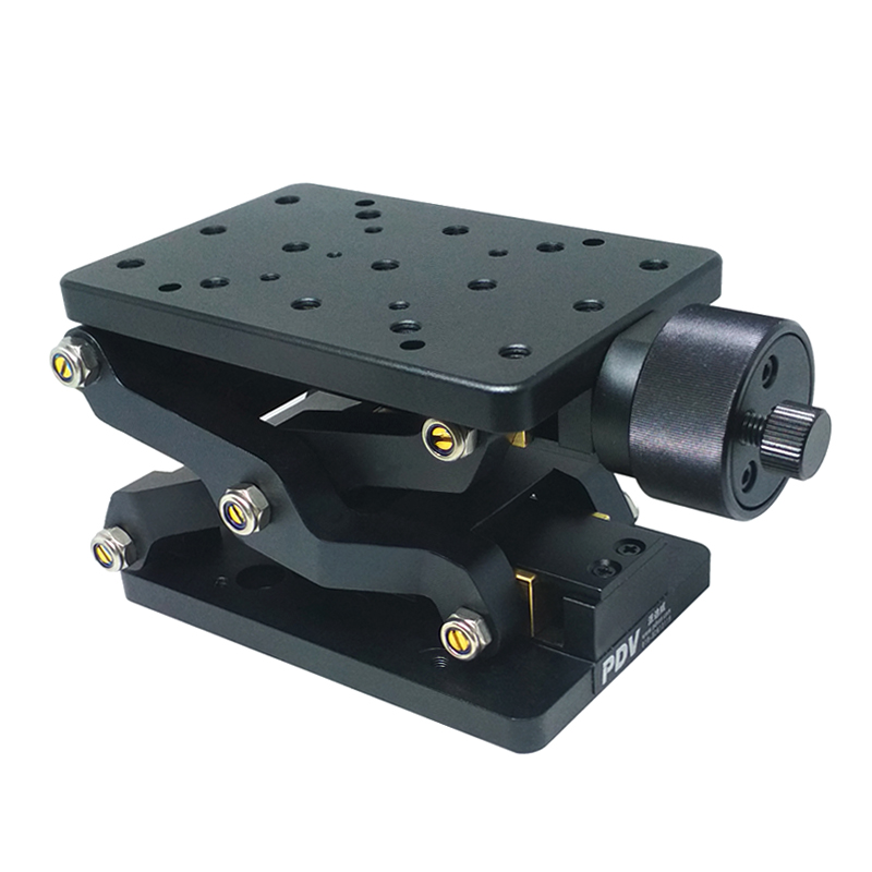 PT SD408 precision manual lifting platform Z axis elevator lift displacement table plus scale