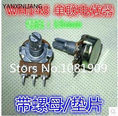 ᗚ10 Adet Stereopasızdırmazlık Potansiyometre 10 K B10k Ile 15mm 3