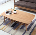 Dining Tables Dining Room Furniture Home Furniture solid oak wood rectangle dining table 130*70*40cm 23kg simple whole sale new