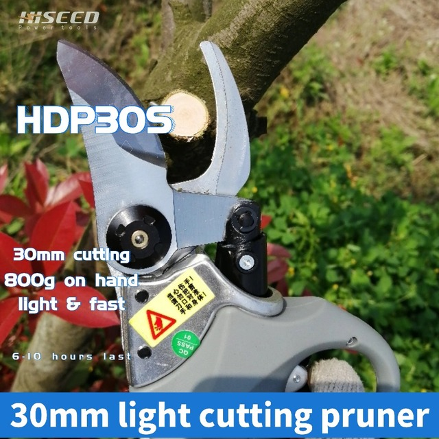 HDP30S super light CE Lithium battery Electric Vineyard,orchard Pruning Shear 800g on hand 30mm cutting