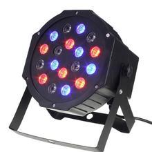 Profesjonalne światła sceniczne 18 RGB PAR LED DMX512 Master-Slave płaska lampa projektora dla DJ Disco oświetlenie imprezowe