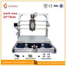 CNC 2418 500 mw/2500mw5500mw laser GRBL Diy lasergravur ER11 cnc-maschine, 3 Achse pcb Fräsen maschine, Holz Router 24×18