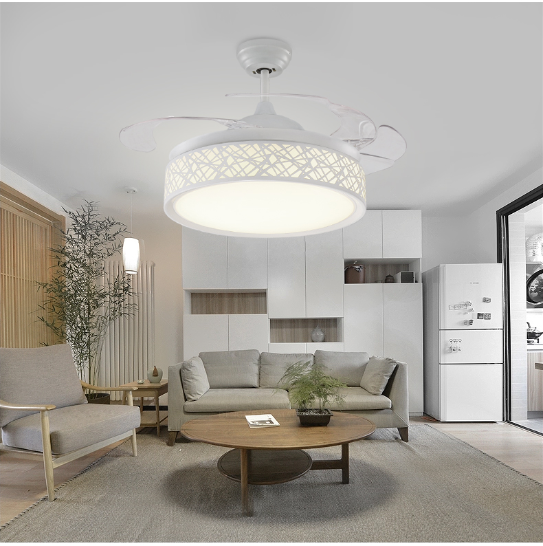 Delicieux Remote Control Fan Lamp Chandelier Fan Light Simple Modern Bedroom Living Room  Dining Room Chandelier Fan Light Household 42inch In Ceiling Fans From  Lights ...