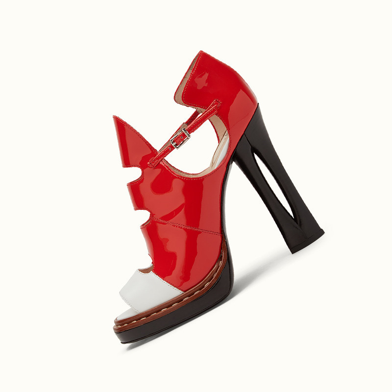 newest style summer women shoes ankle fashion open-toed mixed-colors buckle high heels red black cut-outs 2017 newest red white black colors mountain