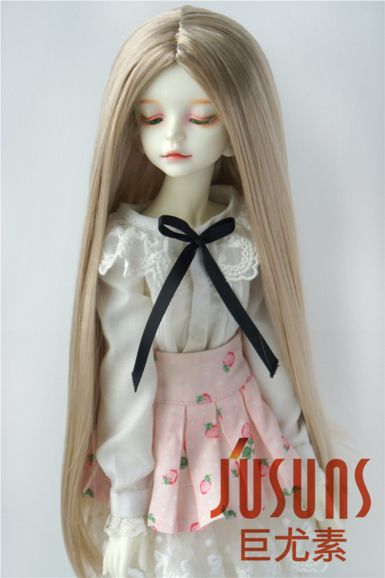 """7-8/"""" Long Mid Parting Curly BJD Doll Wigs 1//4 Synthetic Mohair Doll Hair 8-9/""""1//3"""