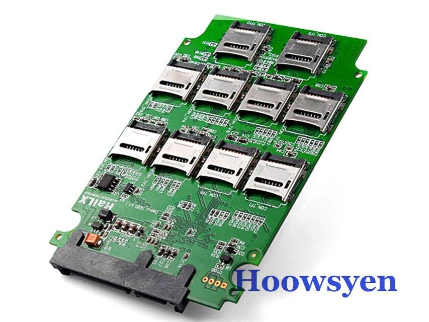 10 x Tarjeta de Memoria Micro SD TF a Adaptador SATA SSD